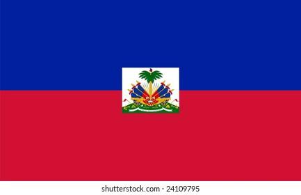 Flag of Haiti. Illustration over white background