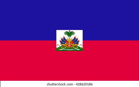 Flag of Haiti. Illustration over white background.