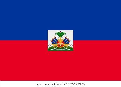 Flag of Haiti. Sovereign state flag of Haiti vector illustration