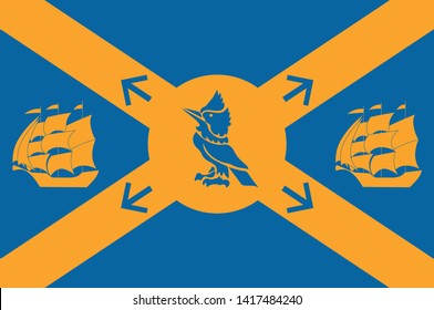 Flag of Halifax, formally known as the Halifax Regional Municipality (HRM), is the capital of the Canadian province of Nova Scotia. Vector illustration