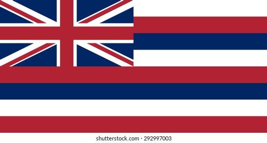 Flag of Hawaii - vector illustration.