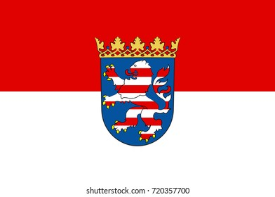 Flag of Hesse is a federal state of Germany. Vector illustration