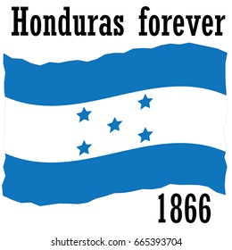 Flag of Honduras to print on a t-shirt and poster