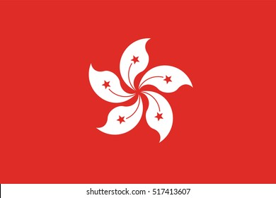 Flag of Hong Kong page symbol for your web site design Hong Kong  flag logo, app, UI. Hong Kong  flag Vector illustration, EPS10.