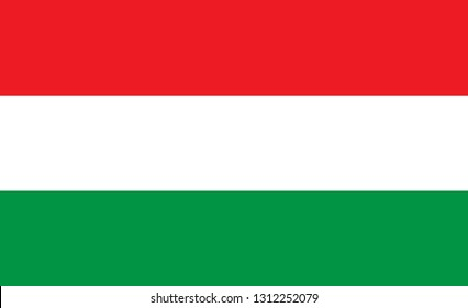 Flag of Hungary. Simple vector Hungary flag