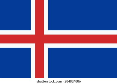 Flag of the Iceland.