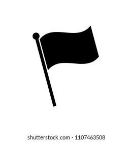 Flag icon in flat style. Flag symbol isolated on white background. Simple flag abstract icon in black. Vector illustration for graphic design, Web, UI, app