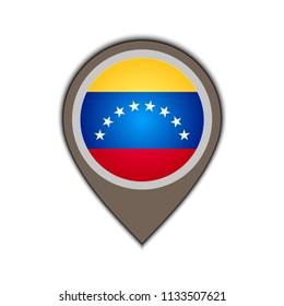 flag icon pin venzuela