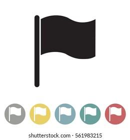 Flag icon set.Vector illustration