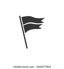 Flag icon template black color editable. Flag symbol vector sign isolated on white background. Simple logo vector illustration for graphic and web design.