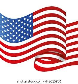 Flag icon. USA design. vector graphic