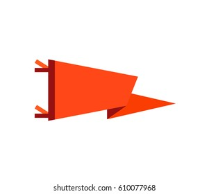 Flag Icon vector illustration. Adventure pennant in flat style.