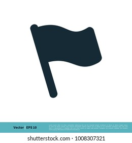 Flag Icon Vector Logo Template