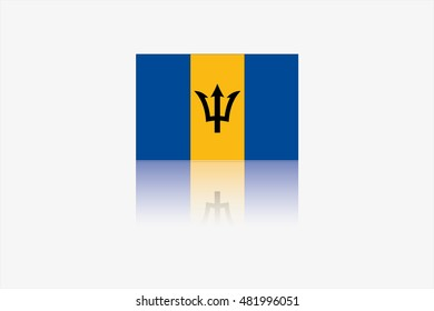 A Flag Illustration of the country of Barbados