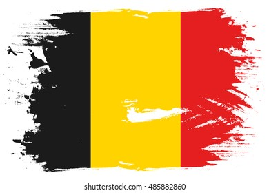 A Flag Illustration of the country of Belgium