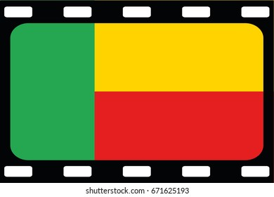 A Flag Illustration of the country of Benin
