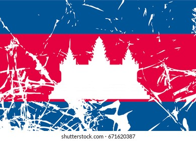 Cambodia Map Shape Cufflinks