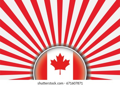 A Flag Illustration of the country of Canada