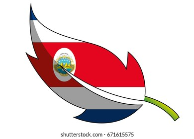 A Flag Illustration of the country of Costa Rica
