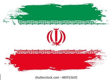 A Flag Illustration of the country of Iran
