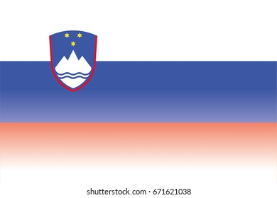 A Flag Illustration of the country of Slovenia