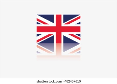 A Flag Illustration of the country of UK