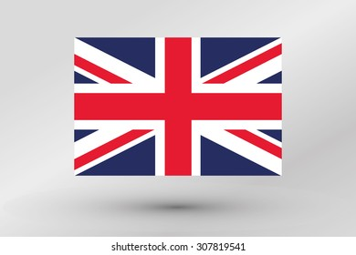A Flag Illustration of the country of the United Kingdom