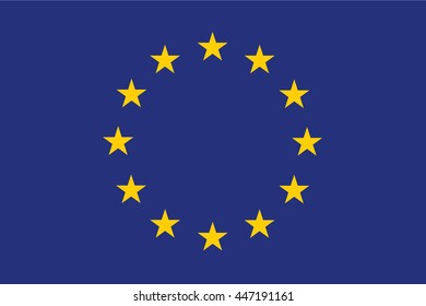 A Flag Illustration of the EU