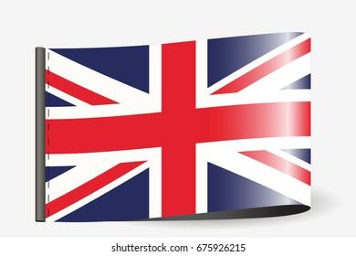 Flag Great Britain Heart British Flag Stock Vektorgrafik Lizenzfrei