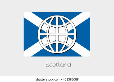 Flag Illustration of Scotland