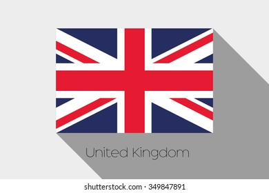 A Flag Illustration with Shadow of United Kingdom