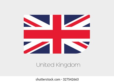 A Flag Illustration of United Kingdom