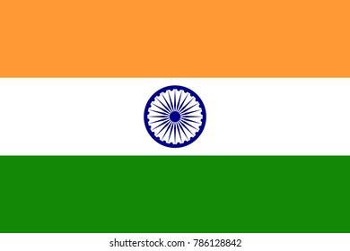 Flag of India in national colors, vector