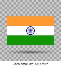 Flag India. Vector illustration.