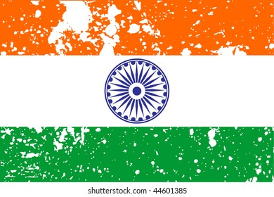 flag of India with white background, vector illustration