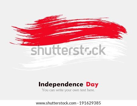Flag Indonesia Vector de stock (libre de regalías)191629385 ...