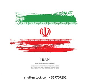 Flag of Iran, brush stroke background