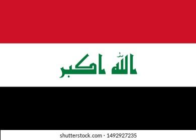 Flag of Iraq a vector illustration