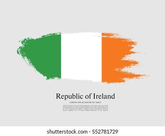 Flag of Ireland, brush stroke background