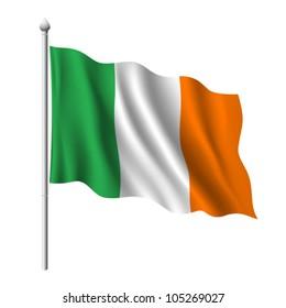 Flag of Ireland, vector illustration