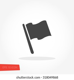 Flag Isolated Flat Web Mobile Icon / Vector / Sign / Symbol / Button / Element / Silhouette