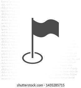 Flag Isolated icon . Lorem Ipsum Illustration design