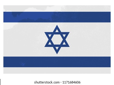 Flag of Israel. Blue and white are the colours of Judah; white is the radiance of the priesthood, and blue, the splendors of the firmament.