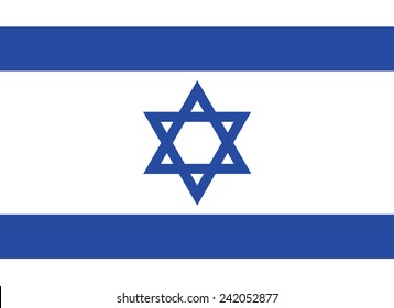 Flag of Israel: rightly proportions and colors