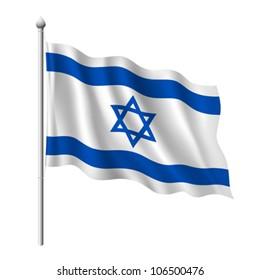 Flag of Israel, vector illustration