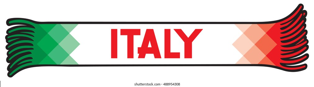 Flag of Italy colors - sport fans scarf design