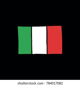 flag of Italy doodle icon