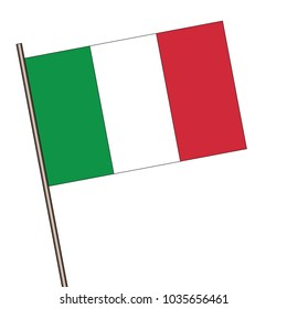 Flag of  Italy isolated on a white background