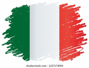 Flag of Italy, Italian Republic. Template for award design, an official document with the flag of Italy. Bright, colorful vector illustration.