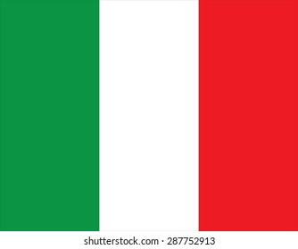 Flag of Italy, national country symbol illustration Vector illustration